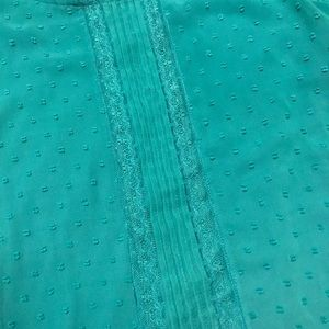 LC turquoise top
